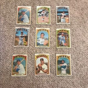 1972 Trading Baseball Cards Collectibles